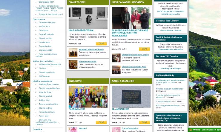 www.LENARTOV.sk OFICIÁLNA WEBOVÁ STRÁNKA OBCE LENARTOV