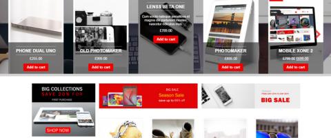 Webstránka pre Internetový obchod, Eshop, tvorba eshopu