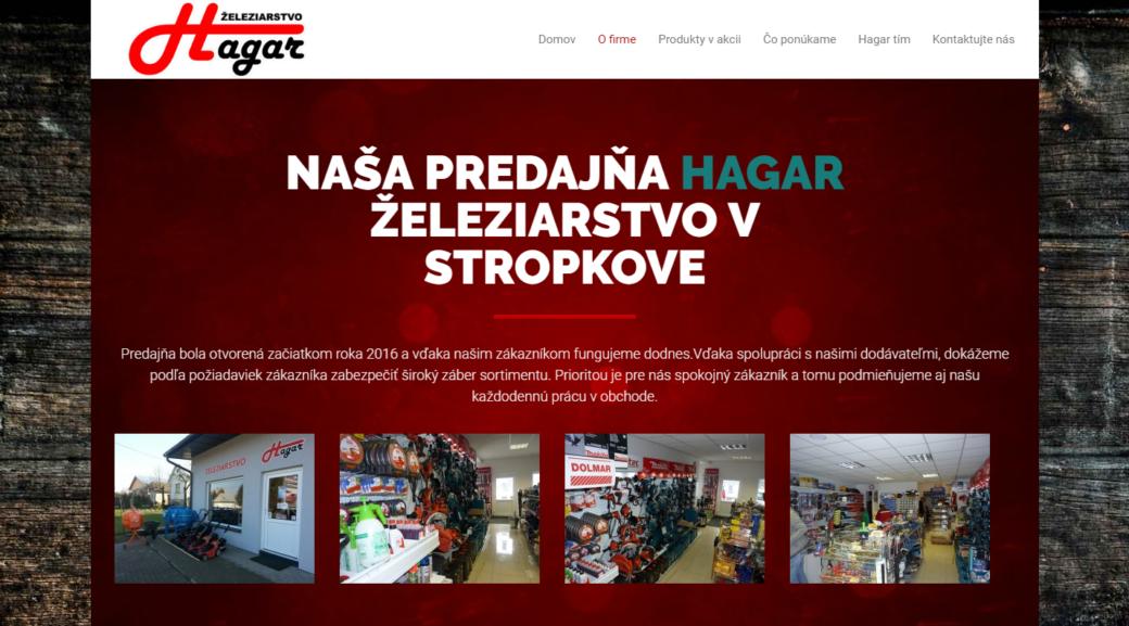 zeleziarstvo HAGAR STROPKOV